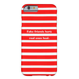 White and Red Friendship Quote Case