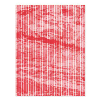 White and red grunge stripe greeting card