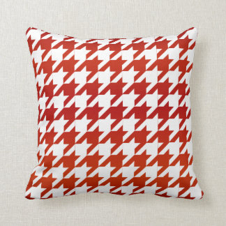 White and Red Houndstooth Pattern Cushion