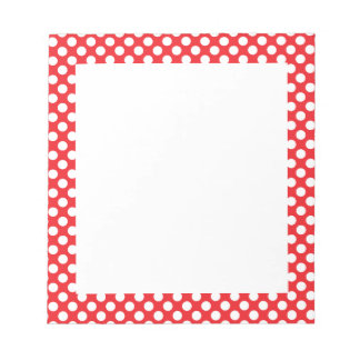 White and Red Polka Dot Notepads