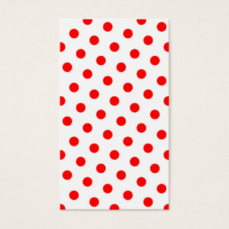 White and Red Polka Dots Business Card