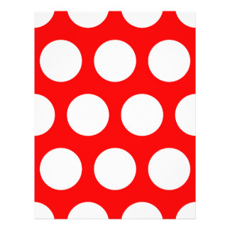 White and Red Polka Dots Flyer