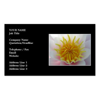 White and Yellow Flower. Pack Of Standard Business Cards