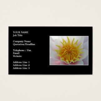 White and Yellow Flower. Business Card