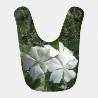 WHITE AND YELLOW FLOWERS BIB
