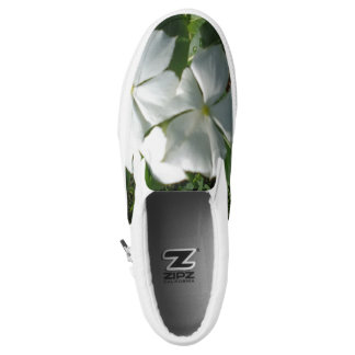 WHITE AND YELLOW FLOWERS SLIP ON SHOES