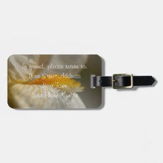 White and Yellow Iris Luggage Tag