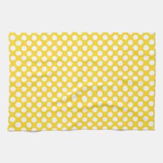 White and Yellow Polka Dot Towel