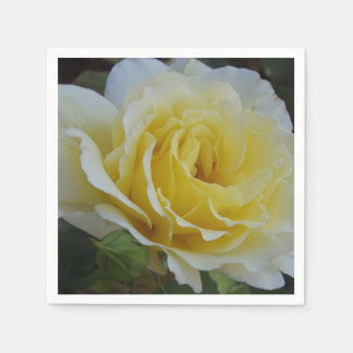 White and Yellow Rose Napkins Paper Serviettes