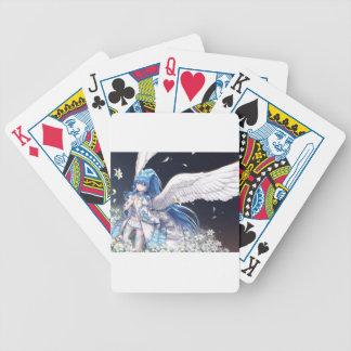 White Angel San Bicycle Playing Cards