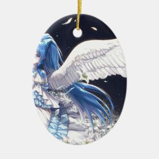White Angel San Ceramic Ornament