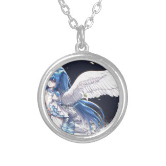 White Angel San Silver Plated Necklace