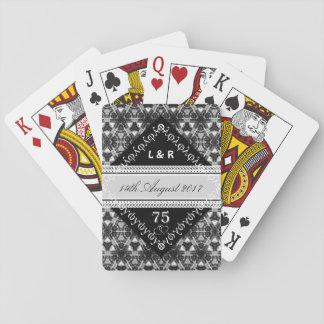 White Anniversary (3, 12, 13 60, 75 years) Playing Cards