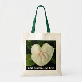 White Anthurium Tropical Flower Budget Tote Bag