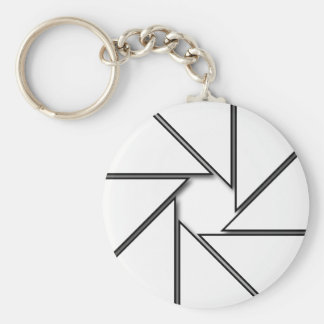 White Aperture Blades Key Ring