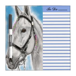 White Appaloosa white and blue sky to do list Dry-Erase Whiteboard