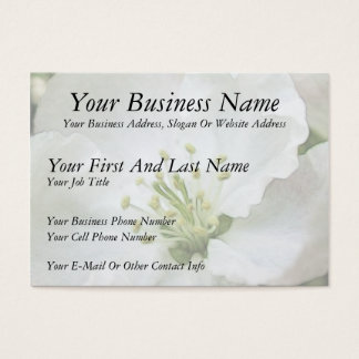 White Apple Blossom Close-Up Business Card