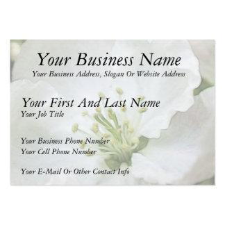 White Apple Blossom Close-Up Business Cards