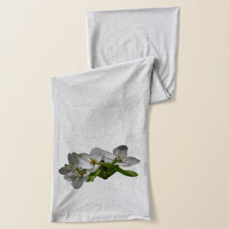 White Apple Blossoms shown a Grey Scarf