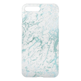 White Aquatic  Marble iPhone Clearly™ Deflector iPhone 7 Plus Case