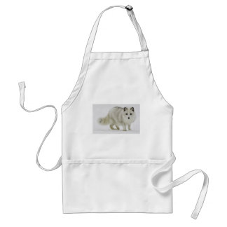 White Arctic Fox Blends Into The Snow Standard Apron