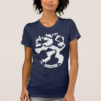 White Arty Lion Women's Dark T-shirt