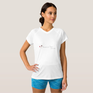 white athletic designer t shirt for women