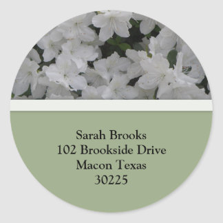 White Azaleas Address Labels
