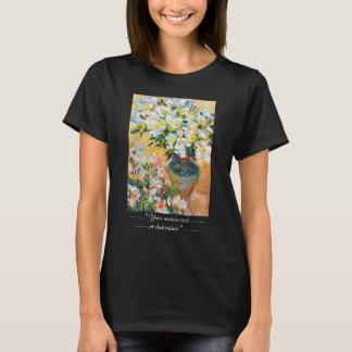 White Azaleas in a Pot, 1885 Claude Monet T-Shirt
