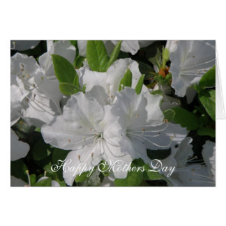 White Azaleas Mothers Day Card