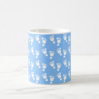 White baby foot - It's a boy baby-shower mug