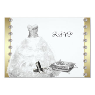 White Ball Gown High Heel Shoes White Quinceanera Card