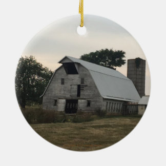 White Barn Ornament