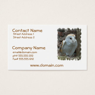White Barn Owl Business Cards