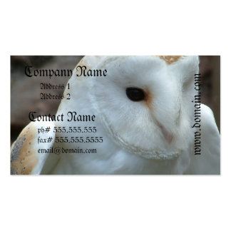 White Barn Owl Business Cards