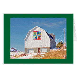 White Barn with Hex sign Card