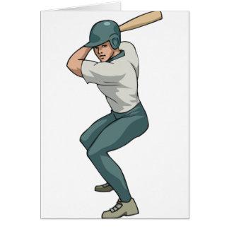 white baseball player card