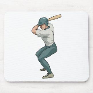 white baseball player mousepads