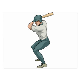 white baseball player postcard