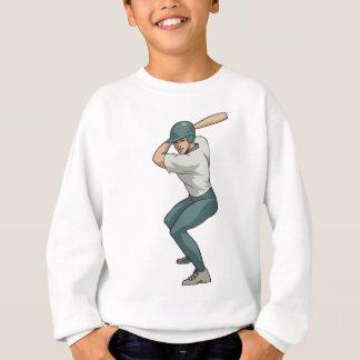 white baseball player sweatshirt