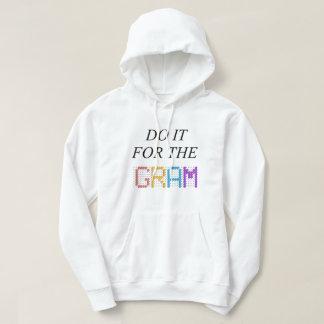 White Basic Hooded Sweatshirt - Do it for the GRAM