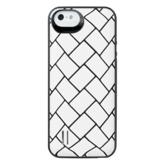 White Basket Weave 2 iPhone SE/5/5s Battery Case