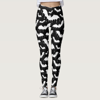 White Bats Moth Nu Goth Gothic Alternative Leggings