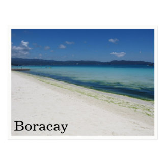 white beach boracay postcard