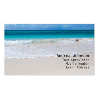 White Beach Business Card Business Card Templates