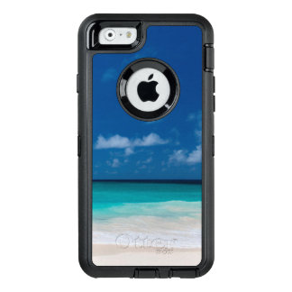 White Beach, turquoise water and blue sky OtterBox Defender iPhone Case
