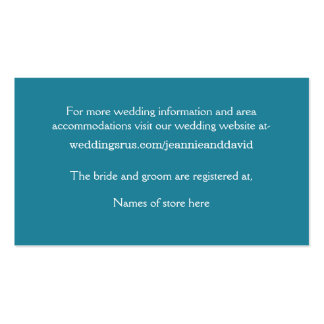 White Beach Wedding Enclosure Card Pack Of Standard Business Cards