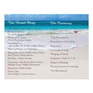 White Beach Wedding Program 21.5 Cm X 28 Cm Flyer