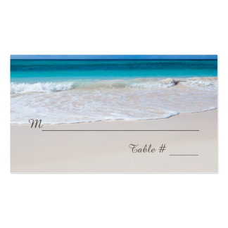 White Beach Wedding Reception Place Card Pack Of Standard Business Cards