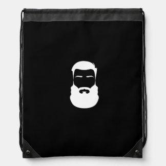 White Beard Drawstring Backpack